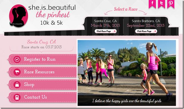 Santa Cruz March 17th  2013 8 00 AM   she.is.beautiful The Pinkfest 10K   5K